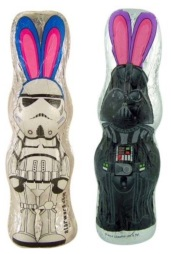 Sehr gelungen: Schoko-Osterhasen als Star Wars-Figuren von Park Avenue.