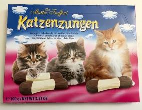 Katzenzungen von Maitre Truffout mit weißer Schokolade