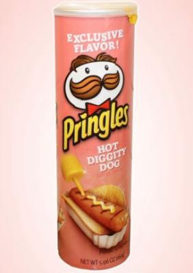 Pringles Hot Dog mit Senf-Geschmack
