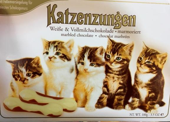 Katzenzungen mit weißer Schokolade von Sarotti