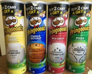 Pringles Sonderedition zur Fußballeuropameisterschaft 2016