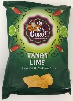 """Diese Marke heißt """"Oh My Guru!"""" mit der Sorte Tangy Lime und die Chips schmeckten wirklich intensiv schwarf und süßlich-sauer zugleich. Taste of the wise = Lecker!"""