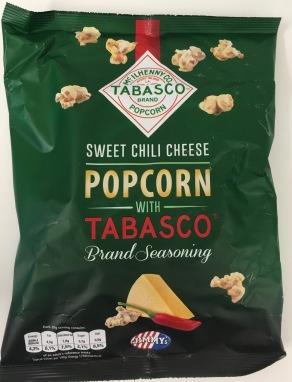 Sweet Chili Cheese Popcorn mit Tabasco von Jimmy's. Mein Favourit!