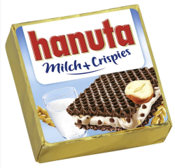 Ferrero Hanuta mit Milch & Crispies