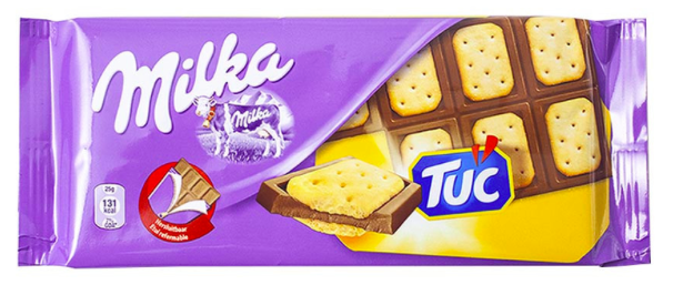 Milka mit Tuc-Keksen-Inlay