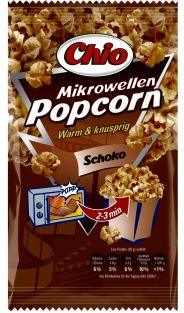 """Mikrowellen-Popcorn von Chio der Sorte """"Schoko""""... ob das schmeckt?"""