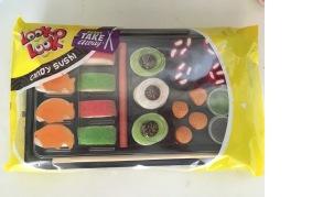 """Keine """"Beigabe"""", sondern die Süßigkeit als Spielzeug: Sushi aus Gummiteilchen vom holländischen Produzenten Look-O-Look."""