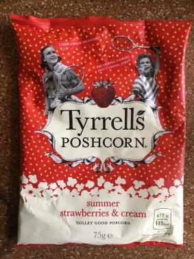 Tyrell's Popcorn mit Erdbeer-Sahne-Geschmack: Richtig lecker!