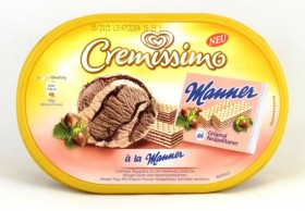 Langnese Cremissimo mit Manner-Geschmack