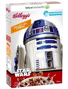 Star Wars Cerealien von Kellogg's in Form von Sternen und Monden.
