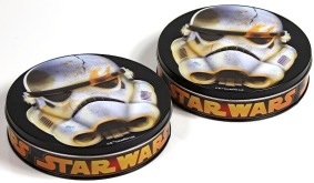 Metalldosen mit Star Wars-Toffee (Countdown Supermarkt, Woolworth)