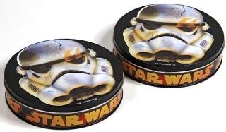 Metalldosen mit Star Wars-Toffee (Countdown Supermarkt, Woolworth)