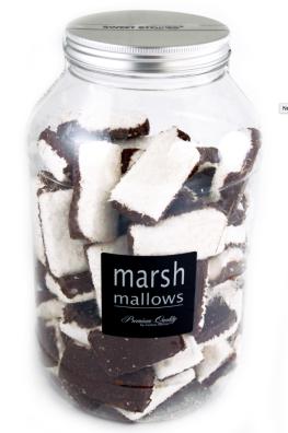 Mellow Mellow Sweet Stories Black&White (in Schokolade getunkt und mit Kokosraspeln bestreut.
