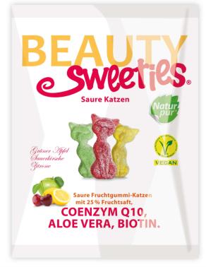 """Gummi: Ein """"gesundes"""" Gummibärchen, tendenziell für die weibliche Kundschaft, in Form von Kätzchen und mit schönheitsfördernden Zusatzstoffen. Nett gemacht."""