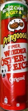 """Österreichische Fan-Chips von Pringles (Kellogg's) mit """"Immer wieder Österreich"""""""
