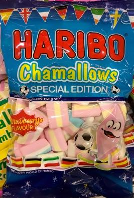 Fußball-Special Edition ohne Österreichbezug, aber hier zu kaufen: Haribo Chamllows