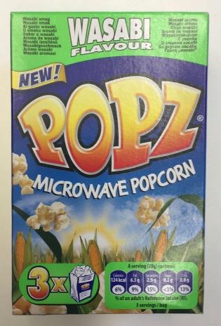 Popz Mikrowellenpopcorn mit Wasabi-Geschmack