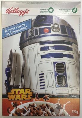 Rückseite der Star Wars Cereals von Kellogg's.