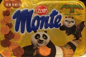 Zott Monte macht Werbung für dne Kung Fu-Panda-Film