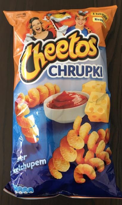 Chips: Cheetos aus Polen mit Ketchup-Käse-Geschmack.