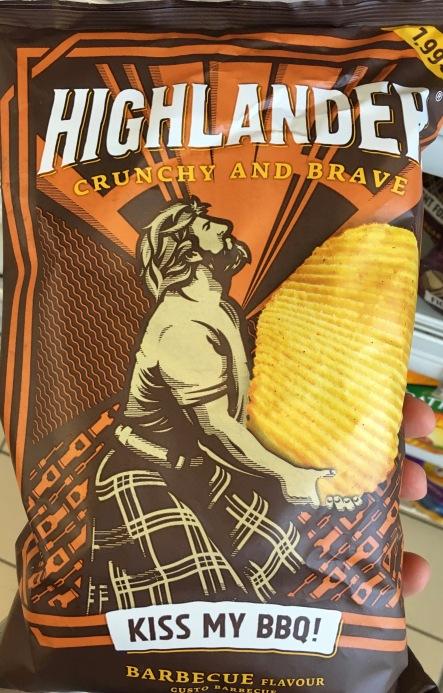 """Und der vierte Geschmack in dieser Runde: Highländer Crunchy and brave der Sorte """"Kiss my Ass... äh BBQ"""""""