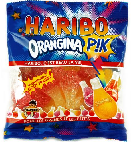 Haribo Fruchtgummit mit Orangina-Geschmack.