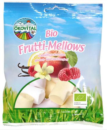 Bio-Marshmallows mit Erdbeer-Geschmack.