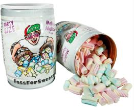 Mellow Mellow: Faß mit bunten Marshmallows
