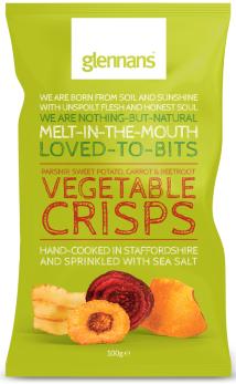 Gemüsechips aus England.