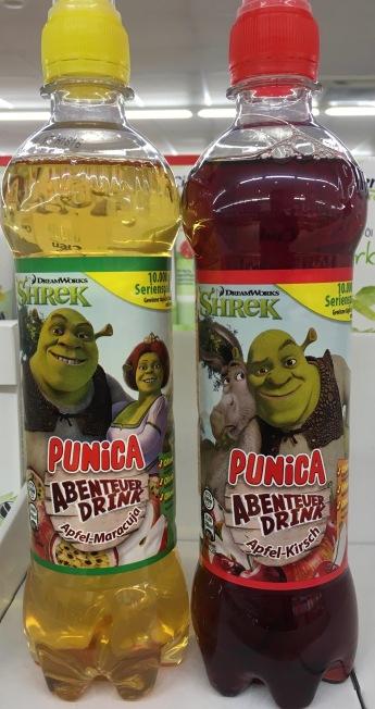 Shreck auf dem Punica Abenteuer Drink.
