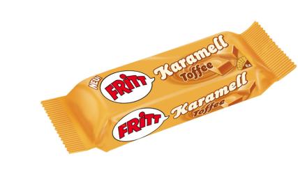 Produkt-Spin-off: Fritt von Trumpf/Krüger mit Karamell Toffee-Geschmack.