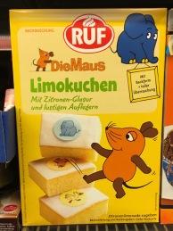"""""""Die Maus""""-Lizenz Limokuchen von RUF mit Deko-Oblaten mit Maus-Motiv.."""