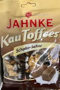 Der norddeutsche Bonbons-Experte Jahnke hat ebenfalls Karamell-Bonbons im Programm: KauToffees mit Schoko-Sahne-Geschmack.