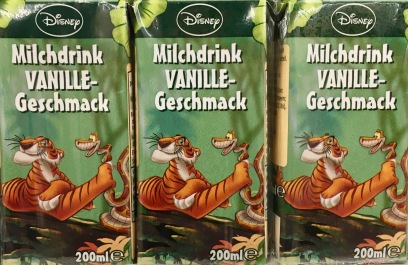 Weiteres Disney-Dschnugelbuch-Motiv auf Immergut-Milchtüte.