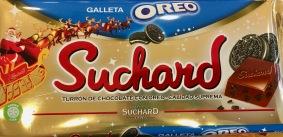 2 Brands in 1: Suchard-Schokolade mit Oreo (beide Mondelez), gesehen in Spanien.