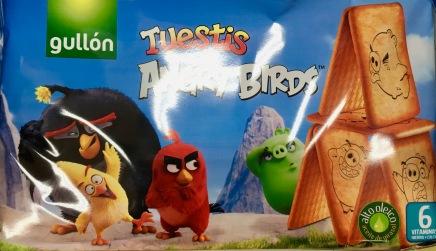 Merchandising: Angry Birds auf Keks-Packung in Spanien.
