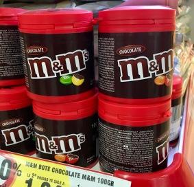 M&Ms in einer abweichenden Verpackungsgröße: Als Rundbox (gesehen in Spanien)
