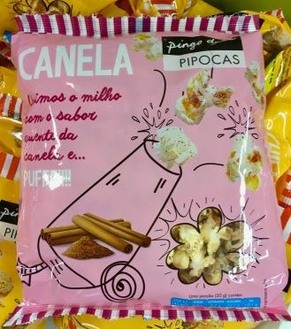 Popcorn von Pingo Doce / Pipoca mit Zimtgeschmack: Sehr süß, aber lecker zimtig.