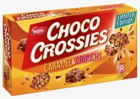 Von Nestles Choco Crossies gibt es auch ein Karamell-Spin-off