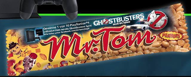 Mr. Tom mit Werbung für Ghostbusters (Film oder Spiel - bin mir nicht sicher)