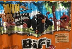 Angry Birds auf dem Bifi-Snack.