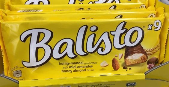 Balisto (Mars) mit Mandel-Honig-Füllung.