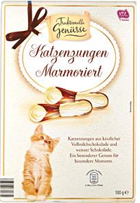 Marmorierte Katzenzungen.