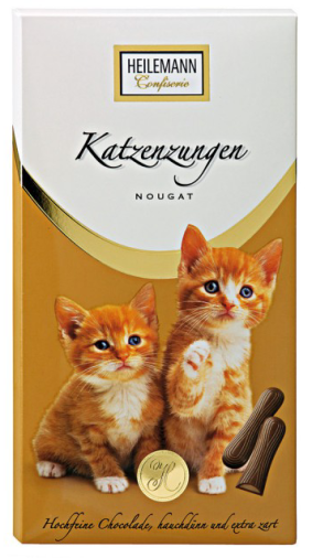Heilemann-Katzenzungen mit Nougat-Geschmack.