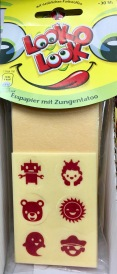Auch eine Form des Spielens mit dem Essen: Esspapier mit Zungen-Tattoos vom stets innovativen holländischen Erzeuger Look-O-Look.
