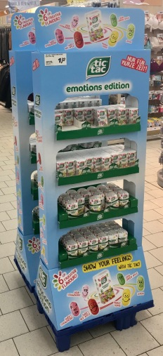 Ferrero TIcTac Display Aufsteller emotions edition