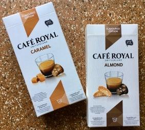"""Nespresso-Imitat """"Café Royal"""" aus der Schweiz gibt es mit Mandel- und Karamell-Geschmack."""
