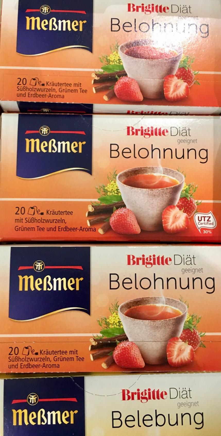 Meßmer Tee Brigitta Diät Belohnung Belebung