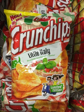 """Chrunchchips wagt den Sprung ins... """"Gewisse"""": Little Italy ist doch nah am klassischen Chipsgeschmack dran."""