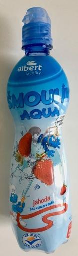 Schlumpf-Wasser mit Erdbeergeschmack von Albert Heijn